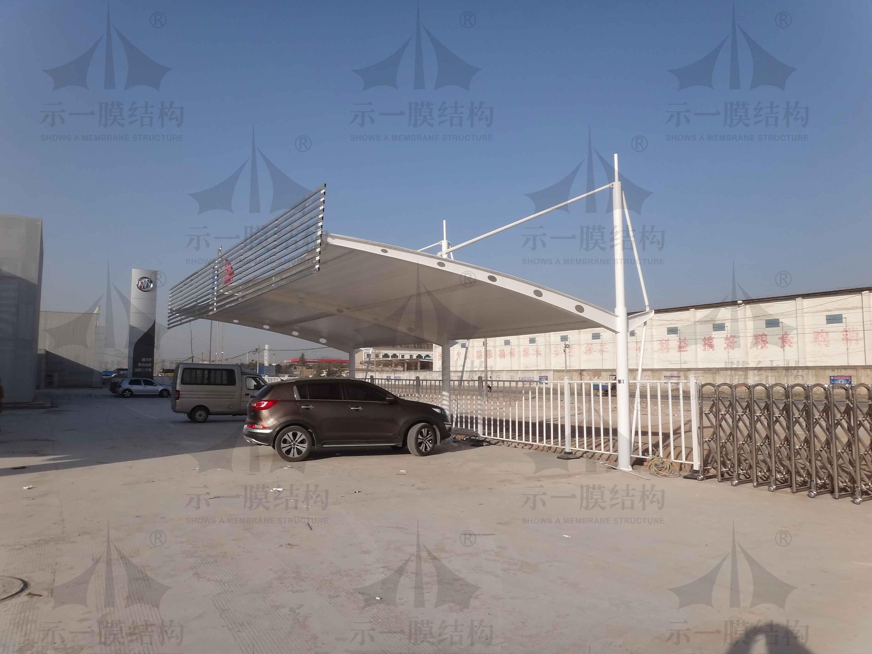 上海示一膜结构有限公司焦作二手车展棚膜结构