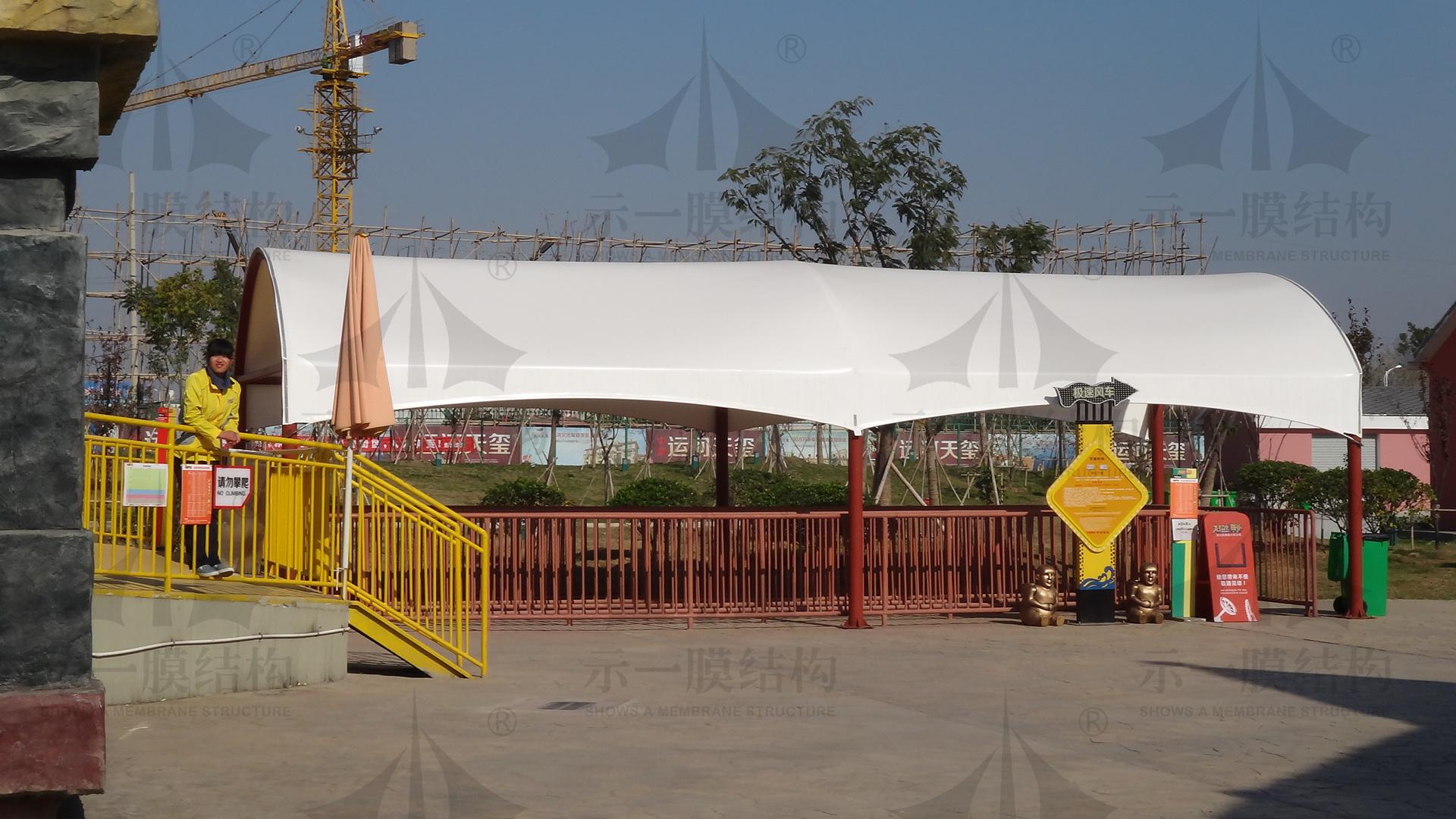 上海示一膜结构宿迁克拉嗨谷膜结构等候雨棚