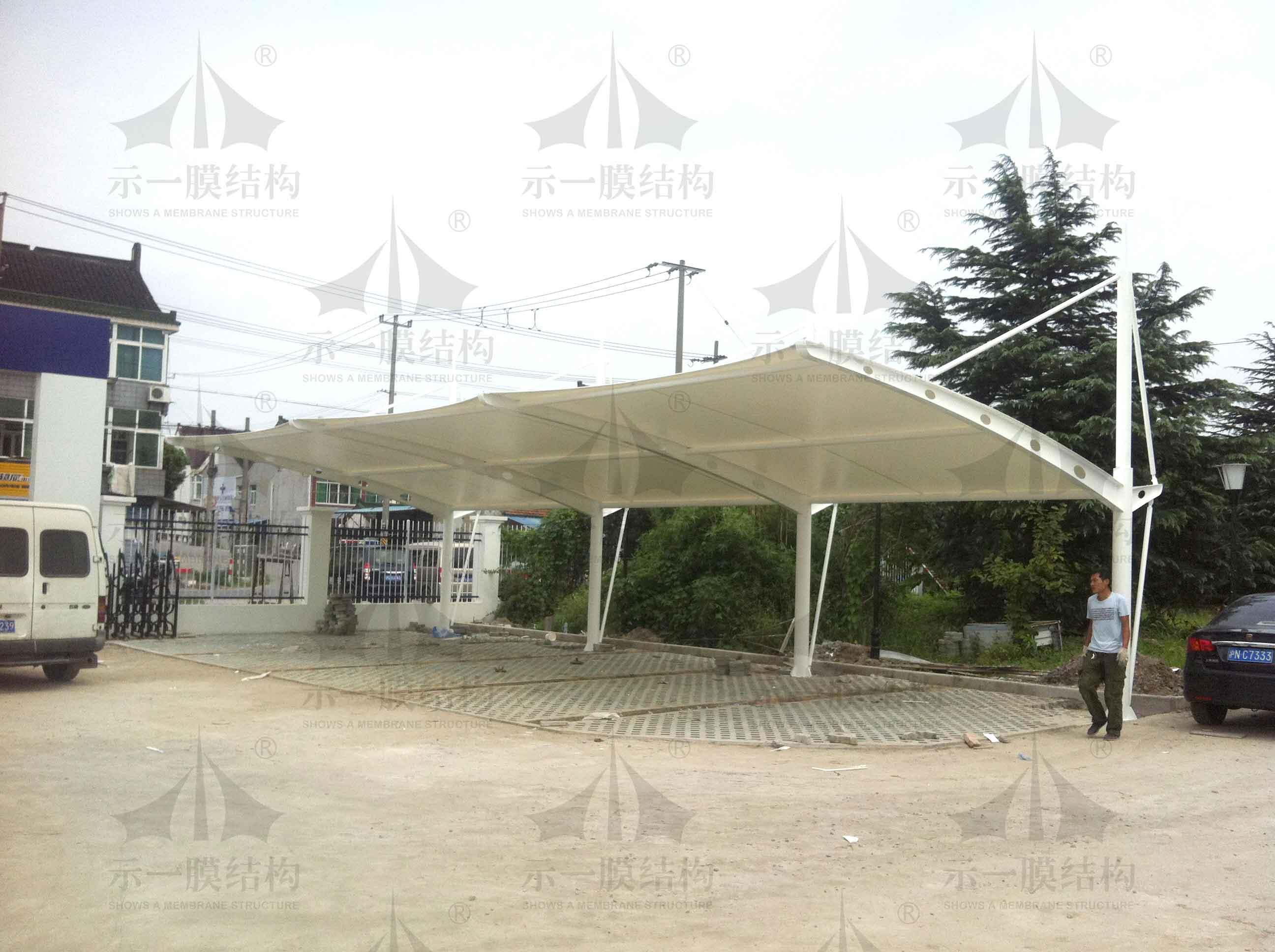 上海示一膜结构吕巷镇派出所停车棚