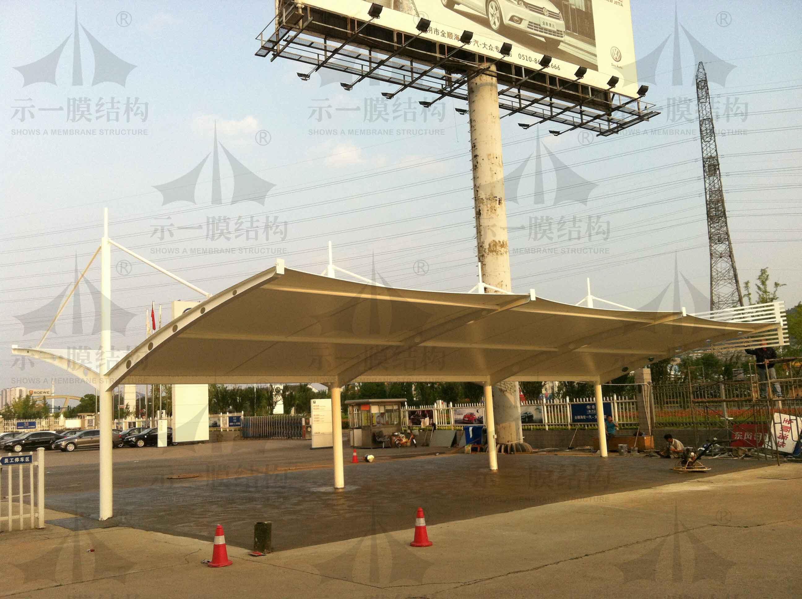 上海示一膜结构4S店膜结构停车棚