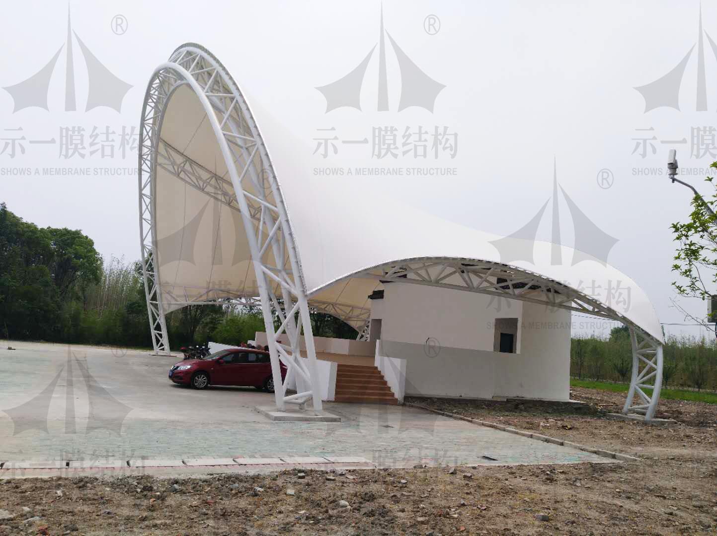 上海示一膜结构松江广富林公园舞台