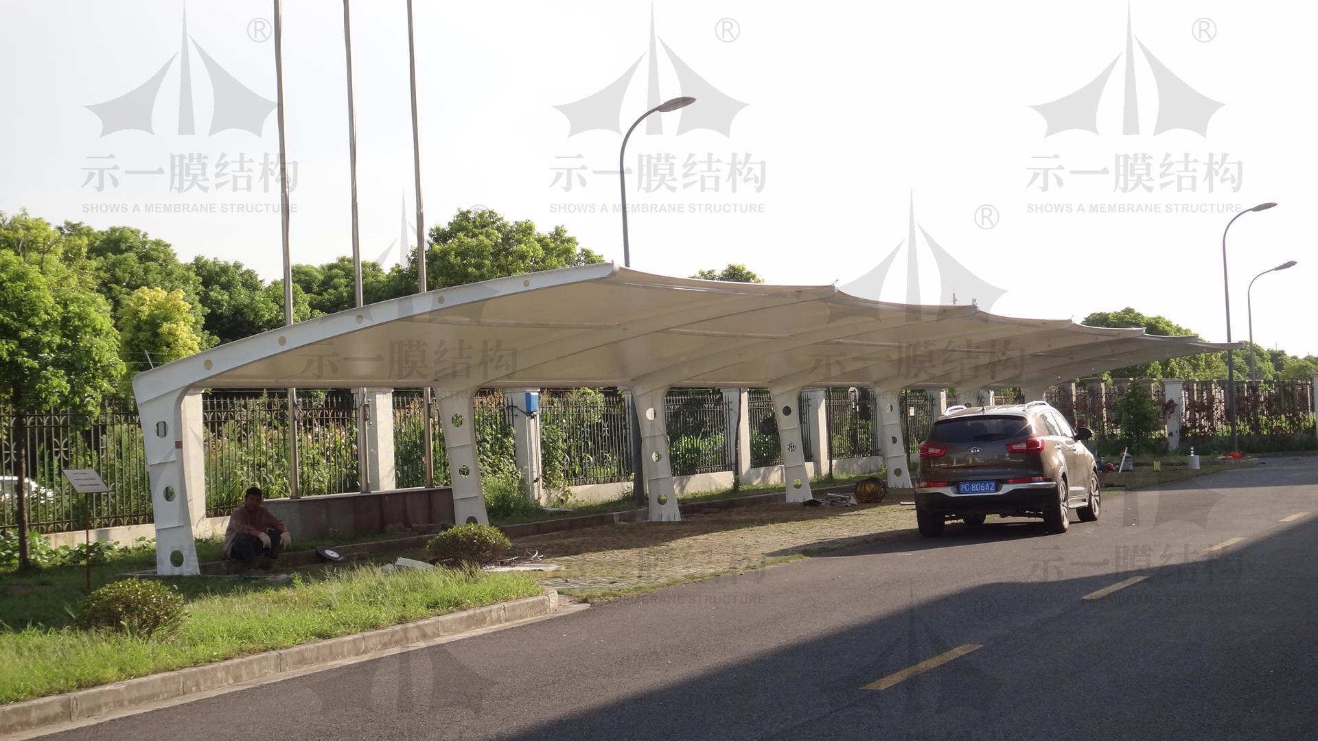 上海示一膜结构上海宝山车棚