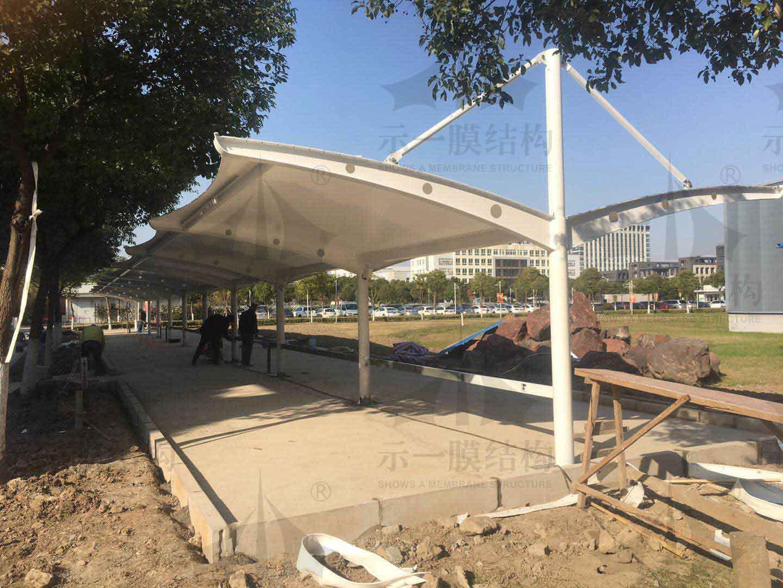 上海示一膜结构中国精密光电研究院停车棚