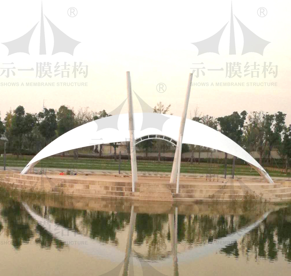 上海示一膜结构江苏吴江天鹅湖景观小品