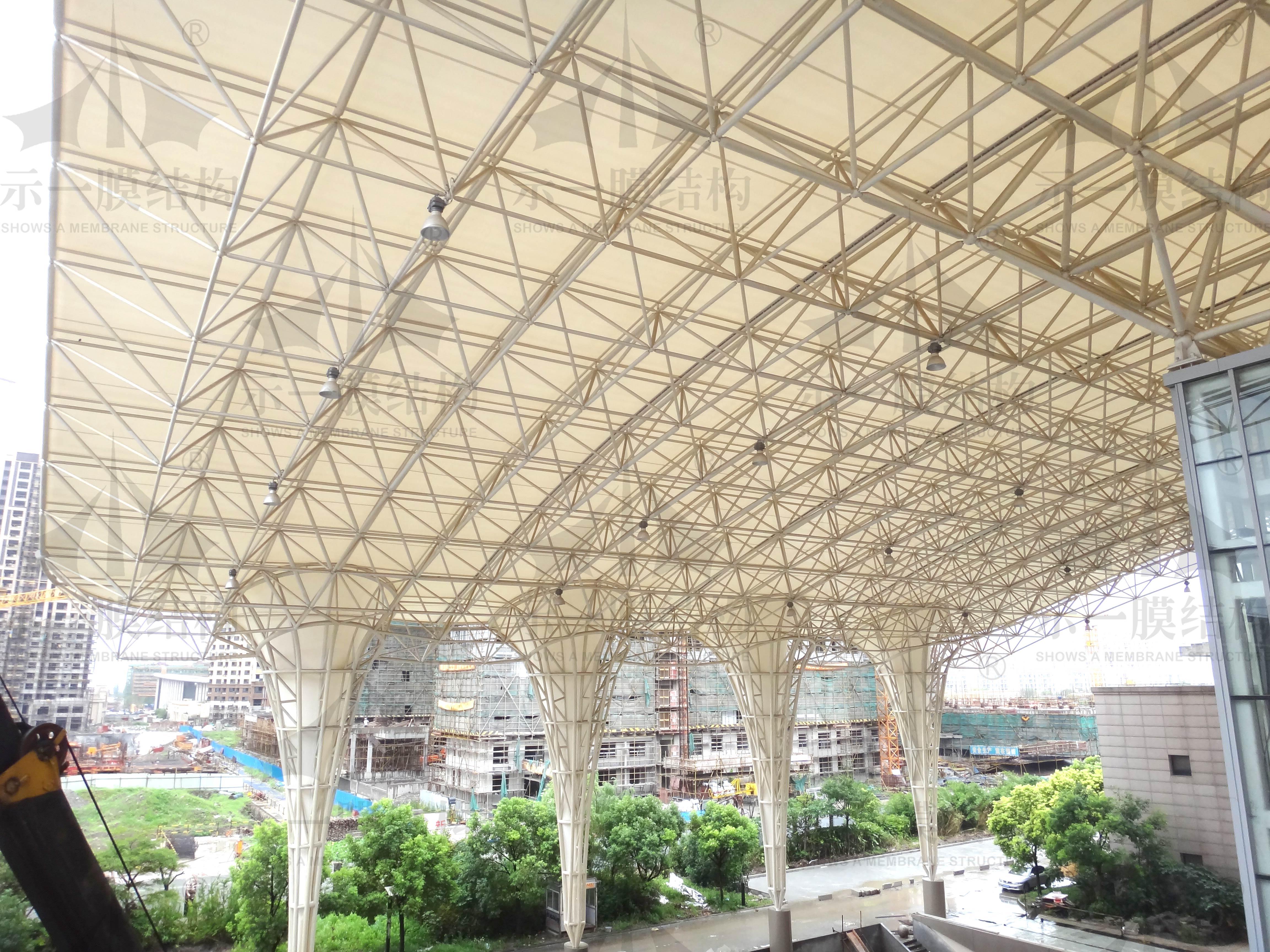 上海示一膜结构上海长江商贸广场膜结构雨棚