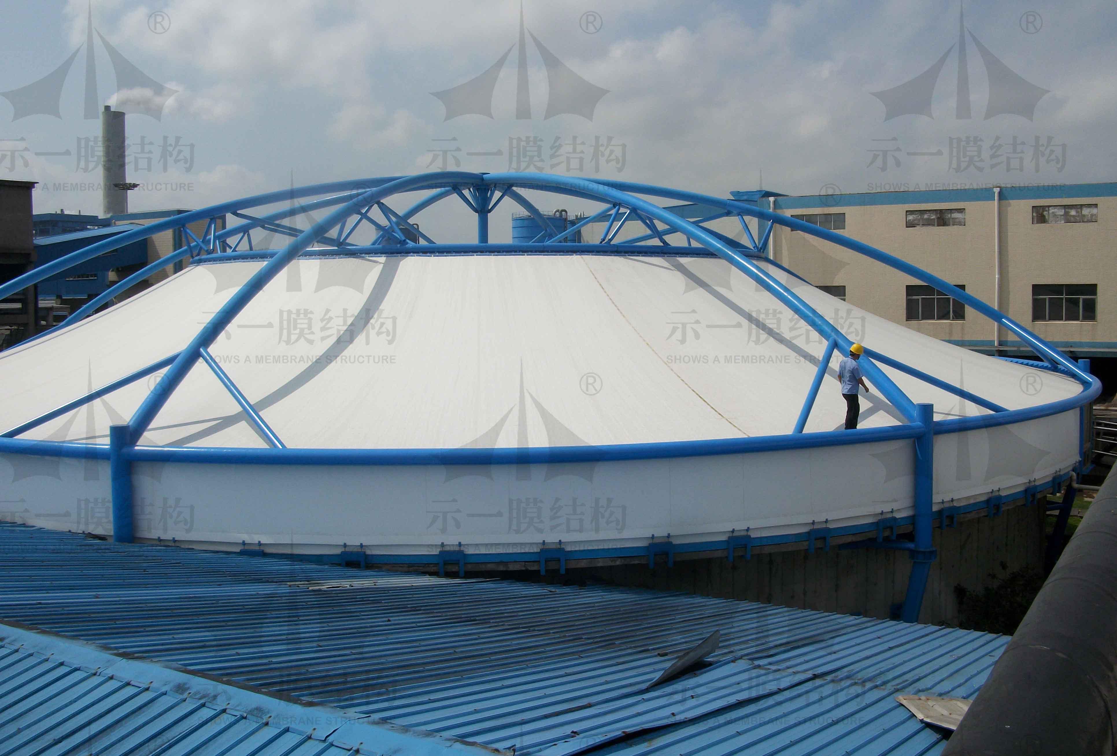 上海示一膜结构太仓污水池膜加盖环保工程