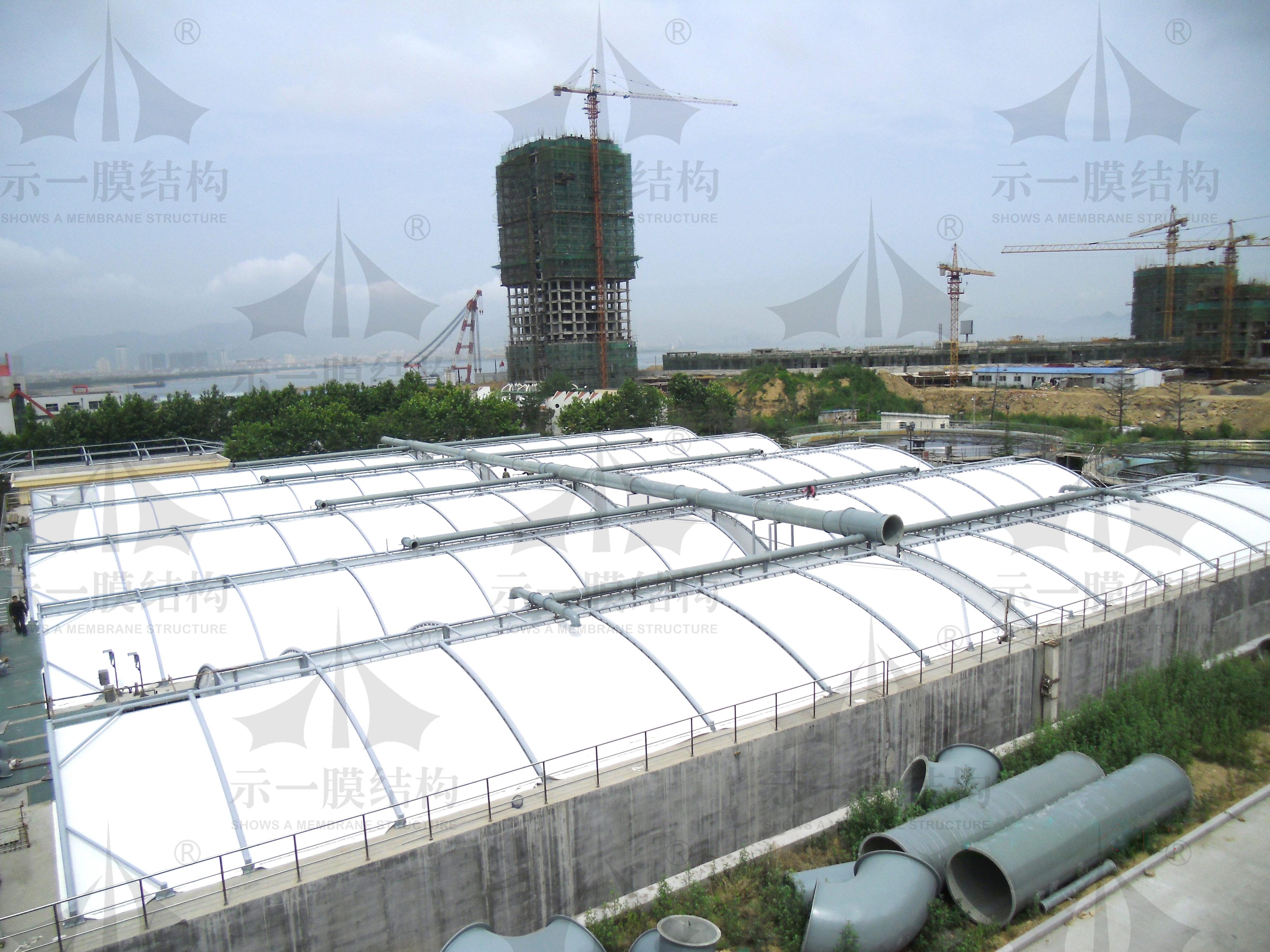 上海示一膜结构山东威海污水池膜加盖环保工程