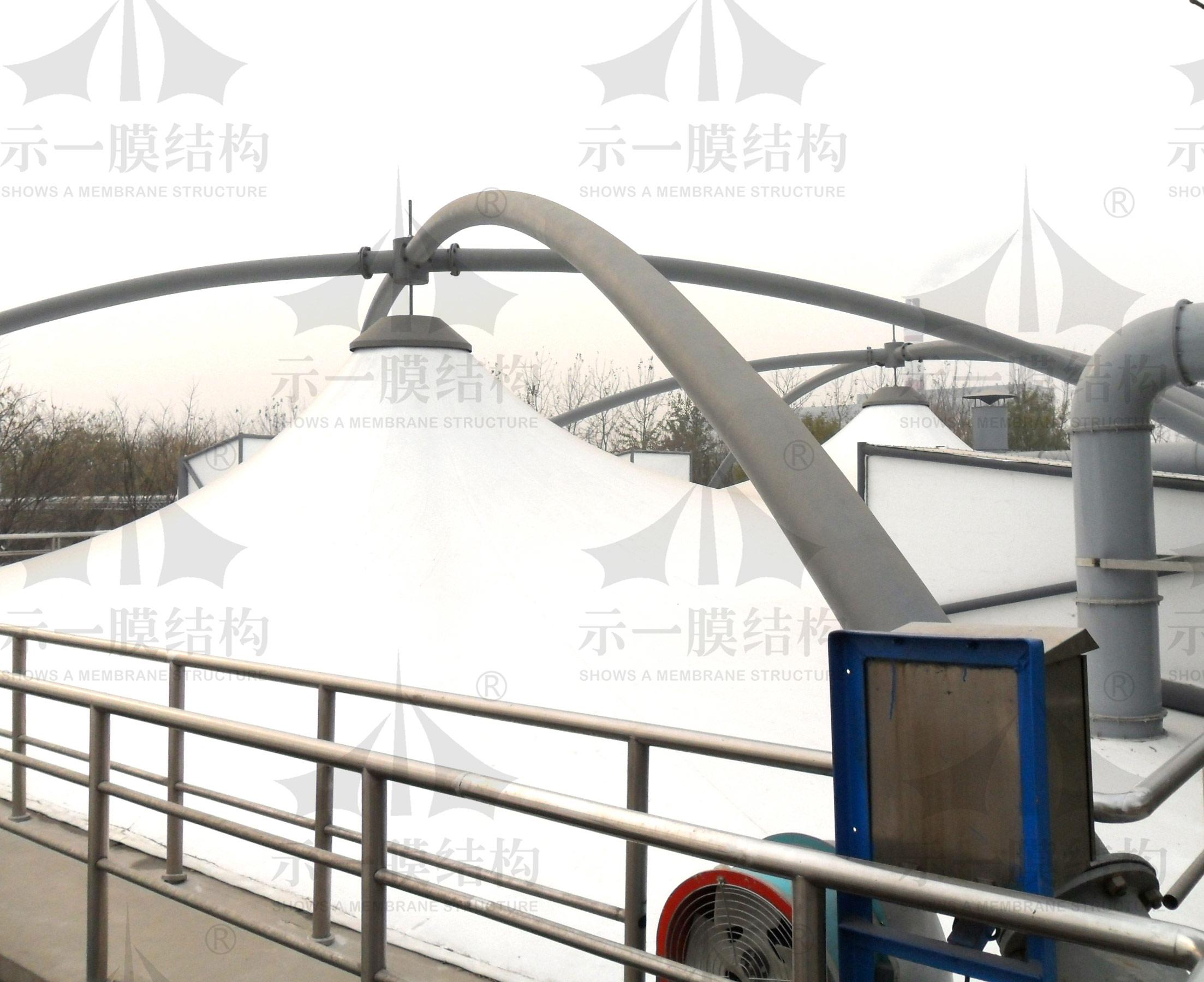 上海示一膜结构天津第一污水池膜加盖环保工程