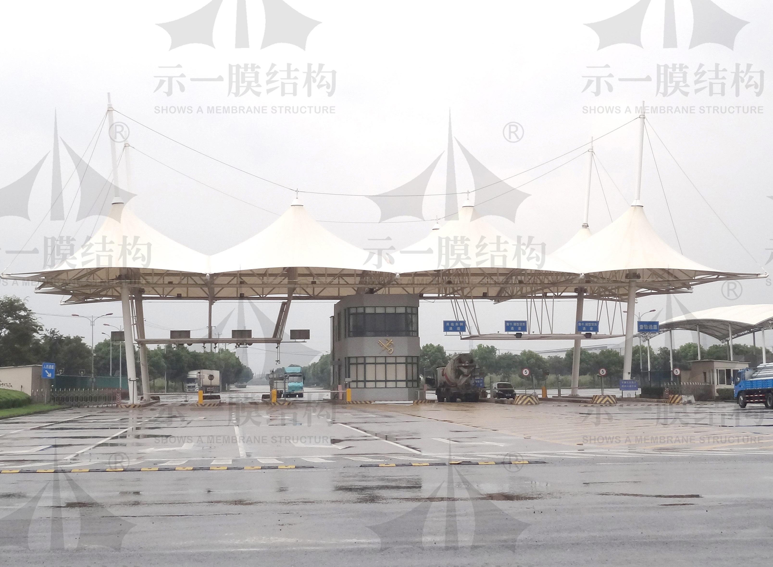 上海示一膜结构松江出口加工区膜结构