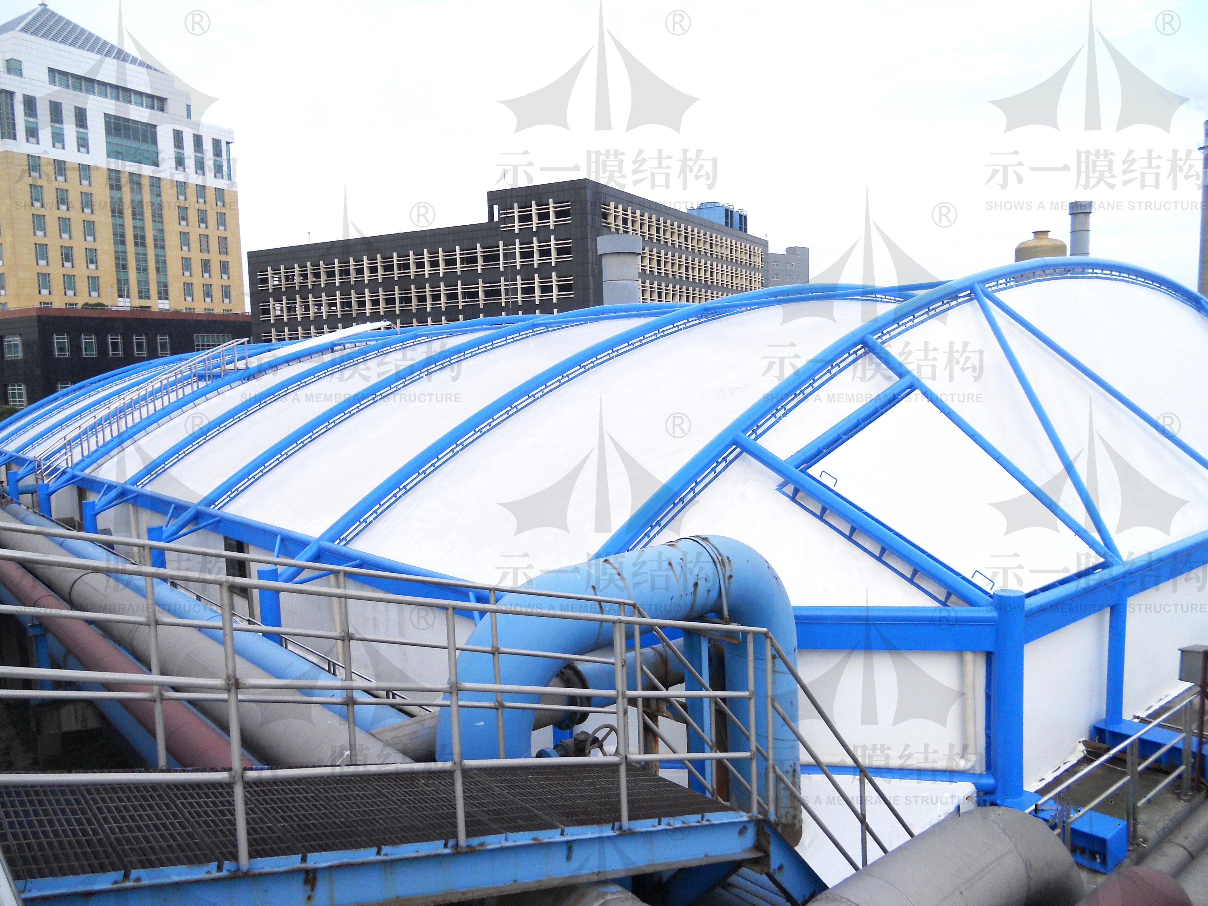 上海示一膜结构东莞玖龙污水池膜加盖环保工程