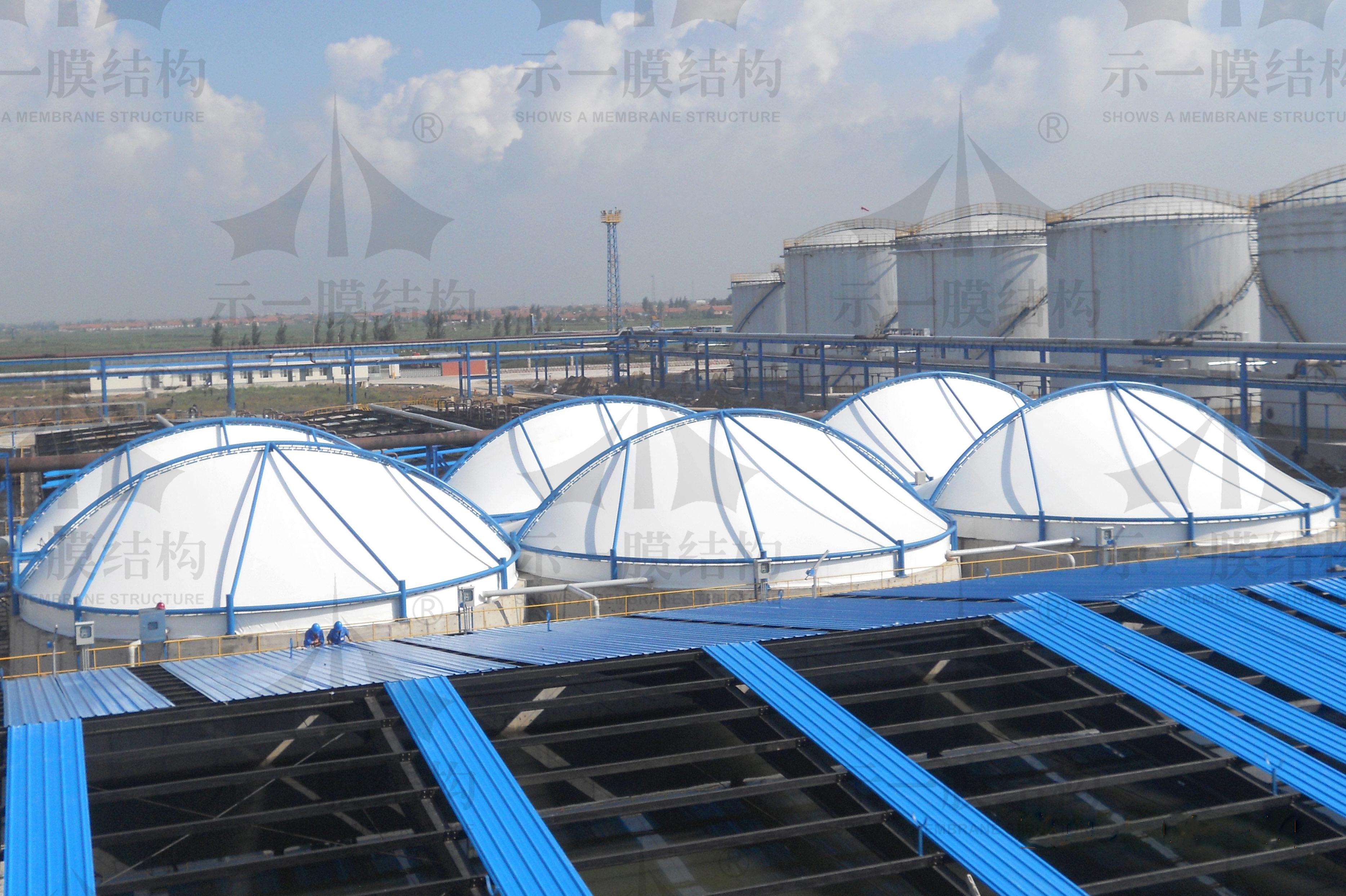 上海示一膜结构山东利津污水池膜加盖环保工程