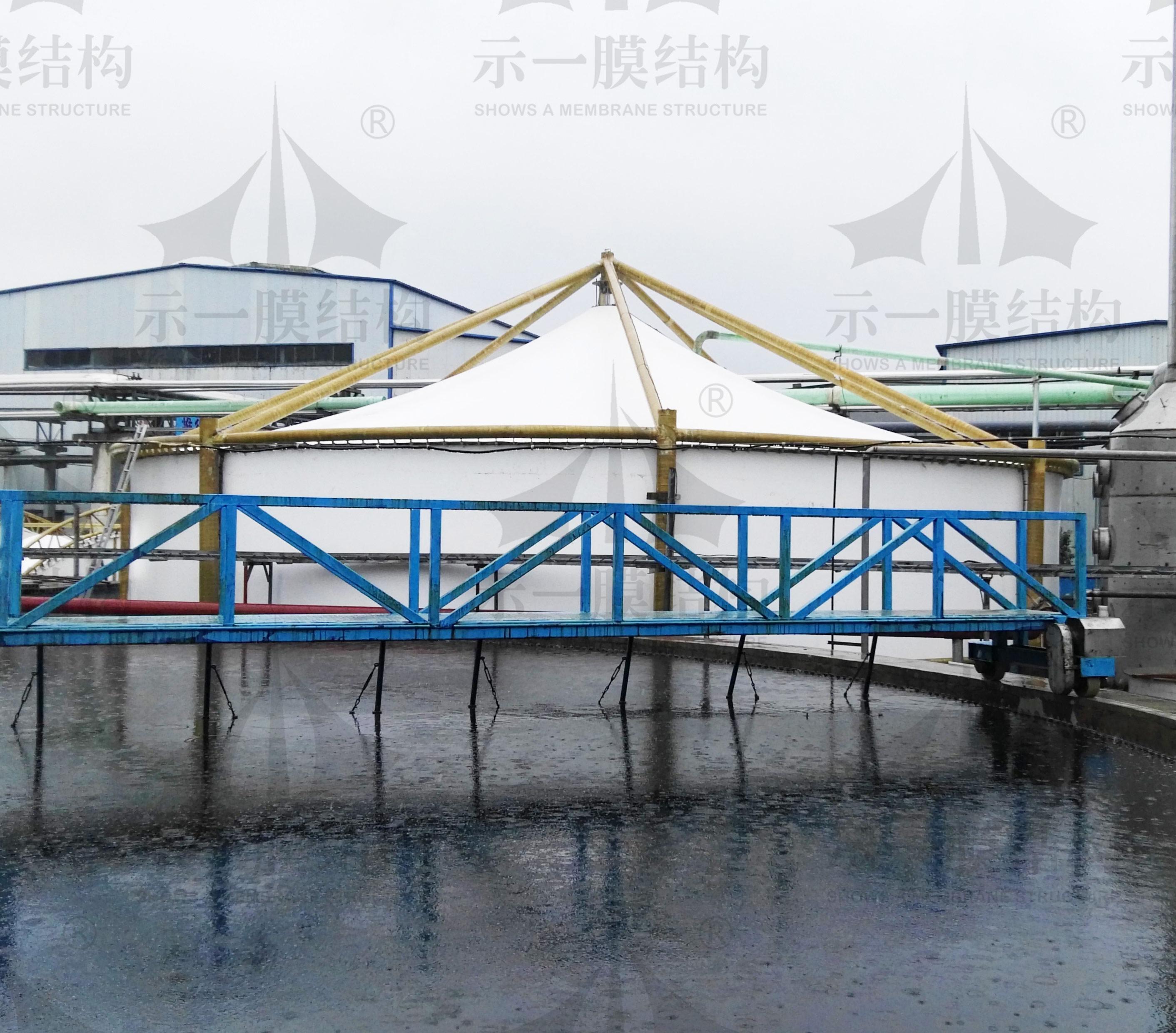 上海示一膜结构山东枣庄污水池膜加盖环保工程