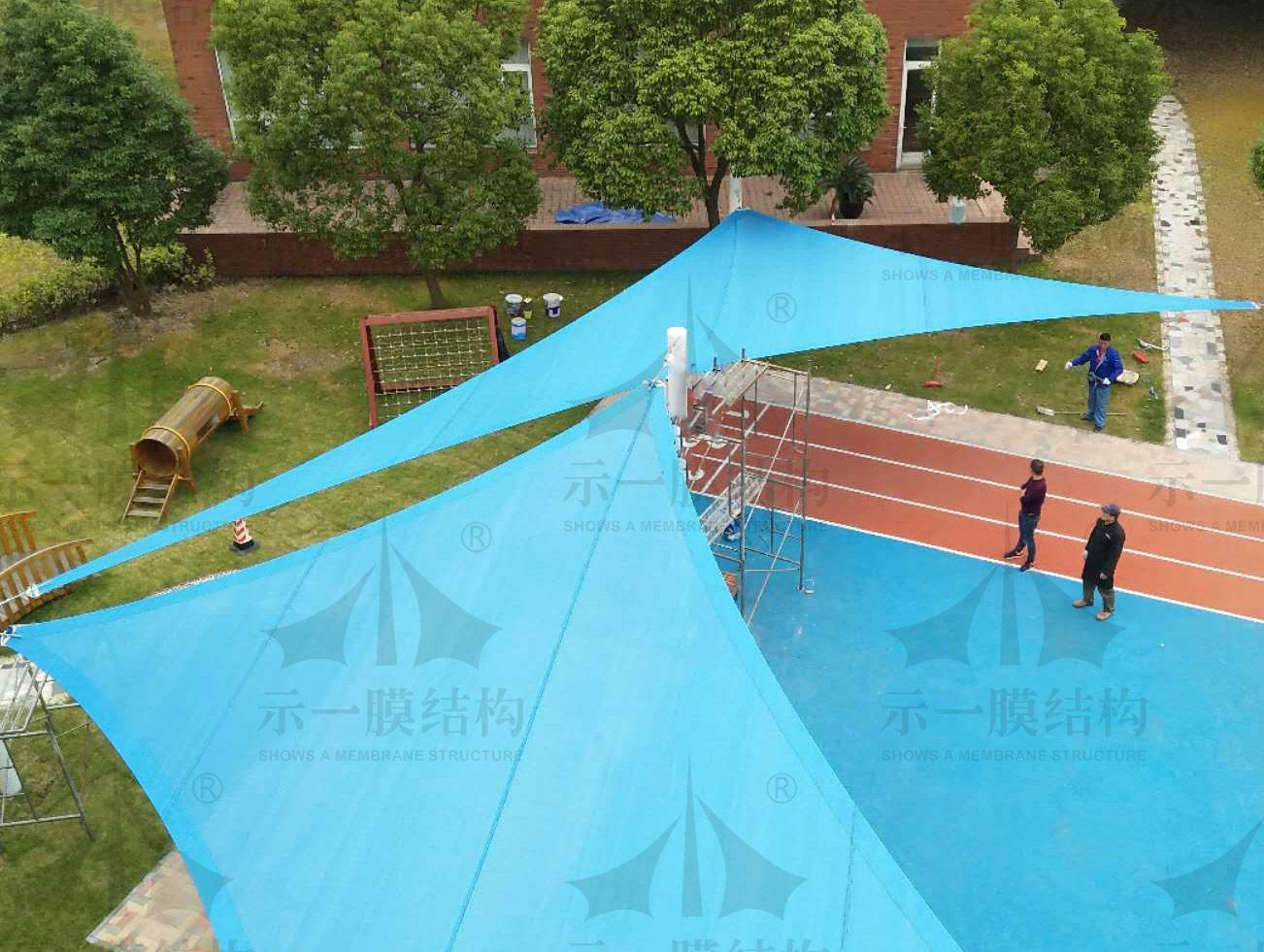 上海示一膜结构景观遮阳帆小品