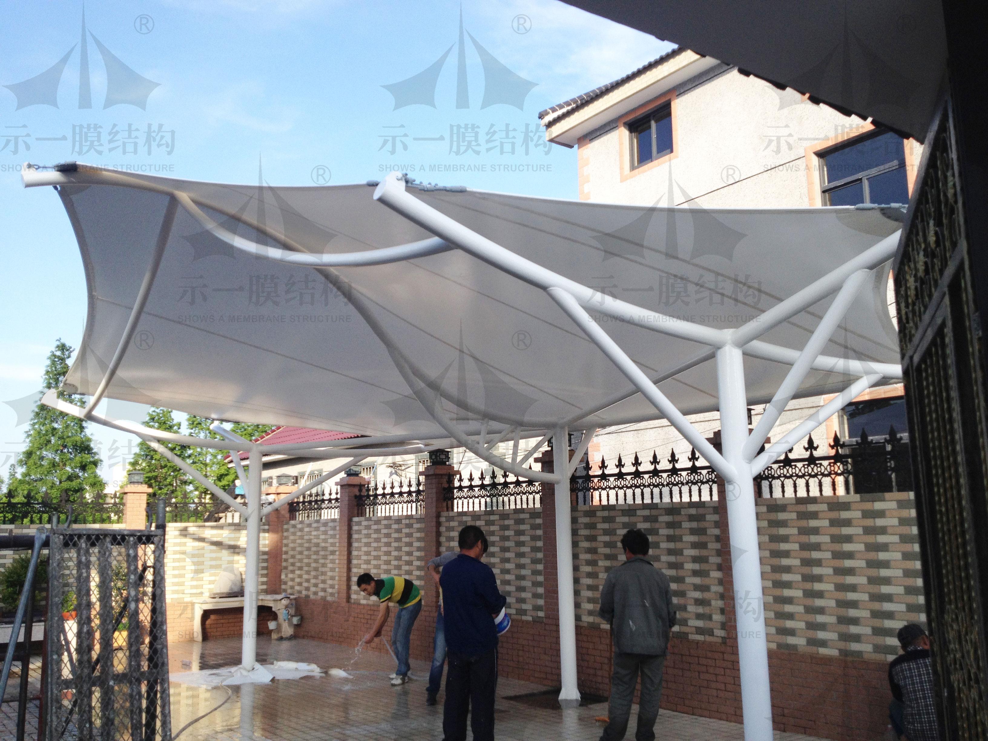 上海示一膜结构朱家角别墅凉棚