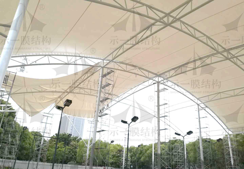 上海示一膜结构张家港西城体育公园网球场膜结构