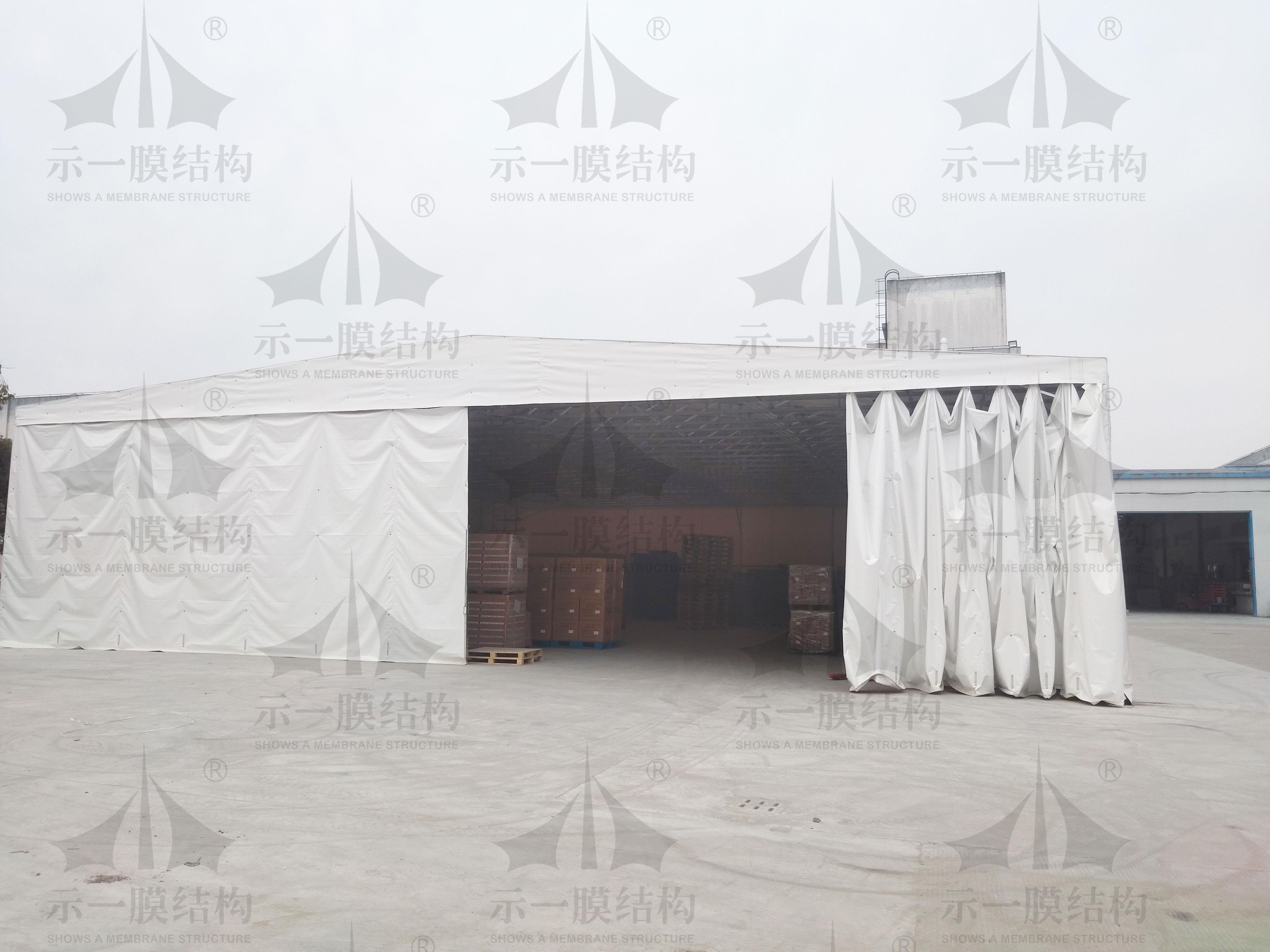 上海示一膜结构金山推拉棚