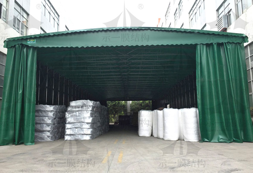 上海示一膜结构上海厂区推拉棚