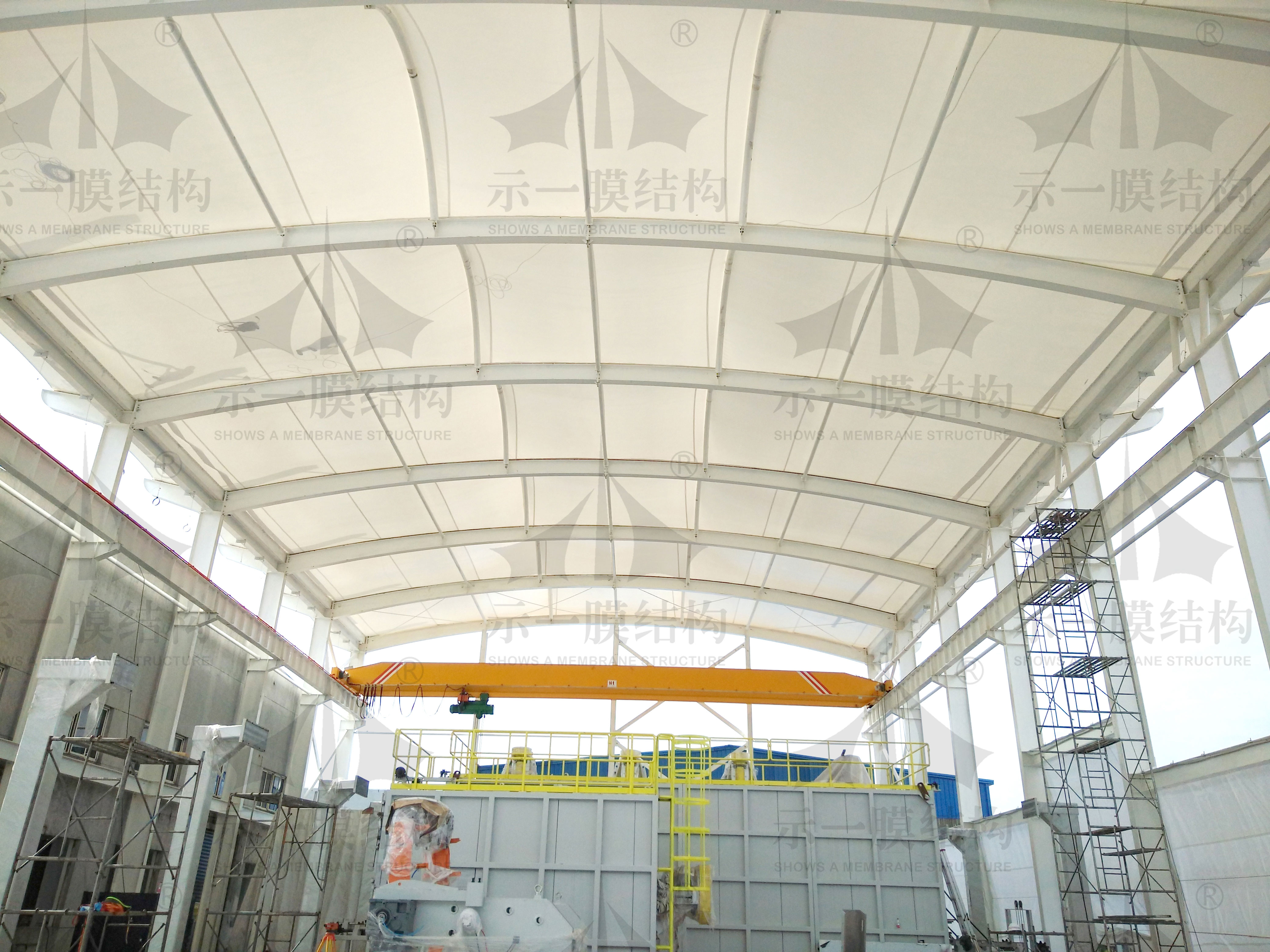 上海示一膜结构南桥柘电膜结构厂房