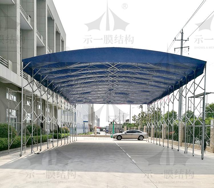 上海示一膜结构厂区临时移动推拉棚