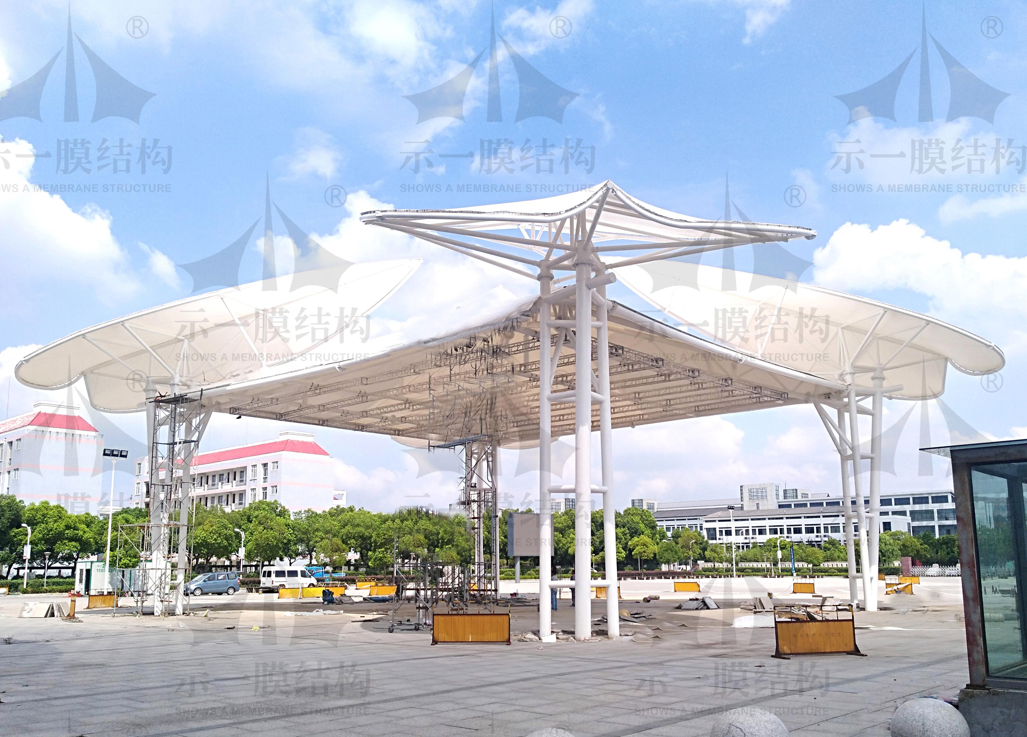 上海示一膜结构徐泾膜结构舞台工程