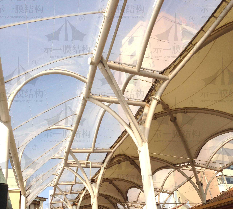 上海示一膜结构松江区开元广场膜结构工程