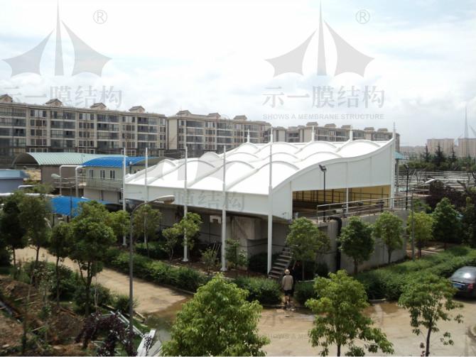 上海示一膜结构昆明污水处理厂膜结构