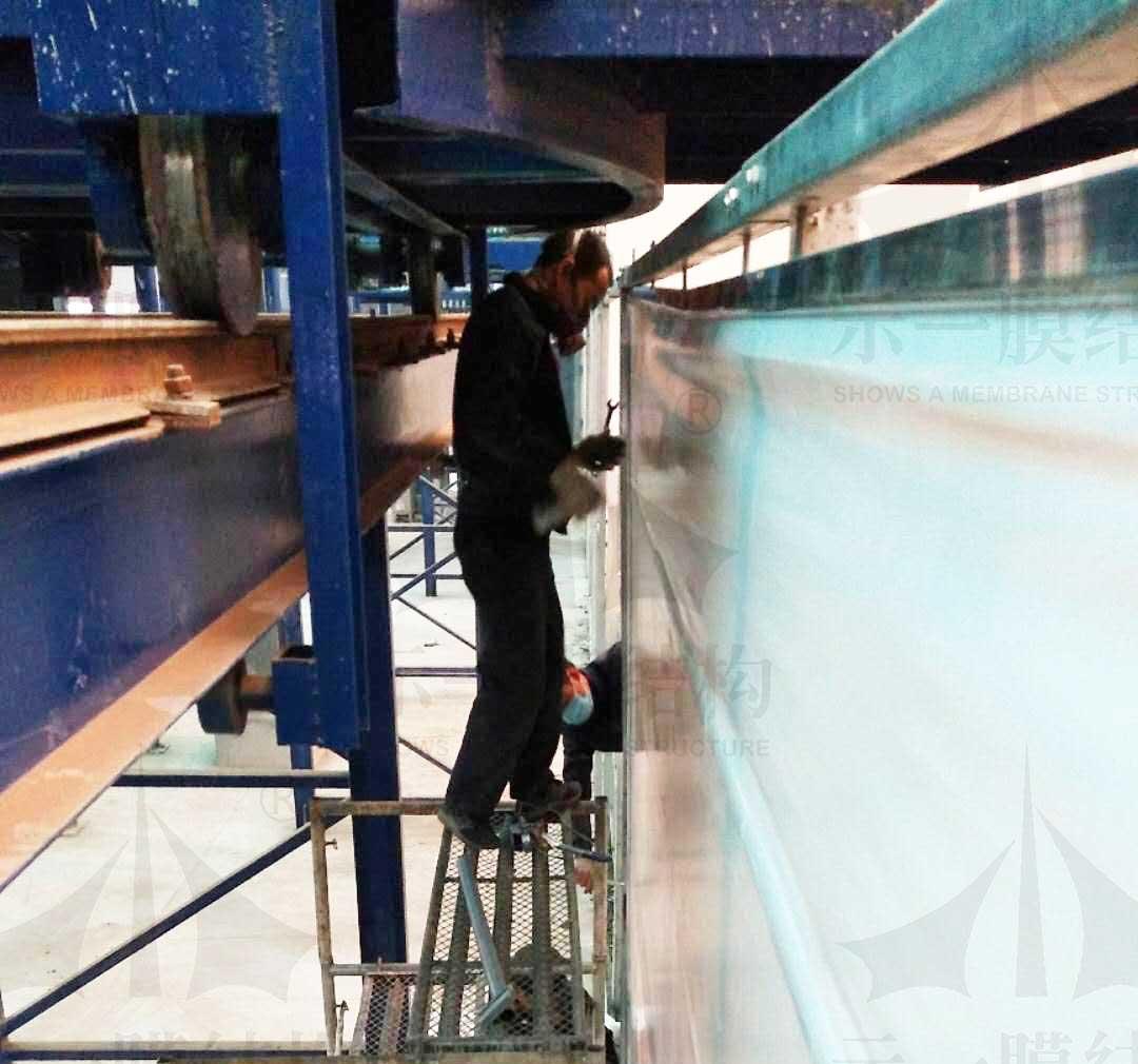 上海示一膜结构郑州市双桥污水处理厂环保工程
