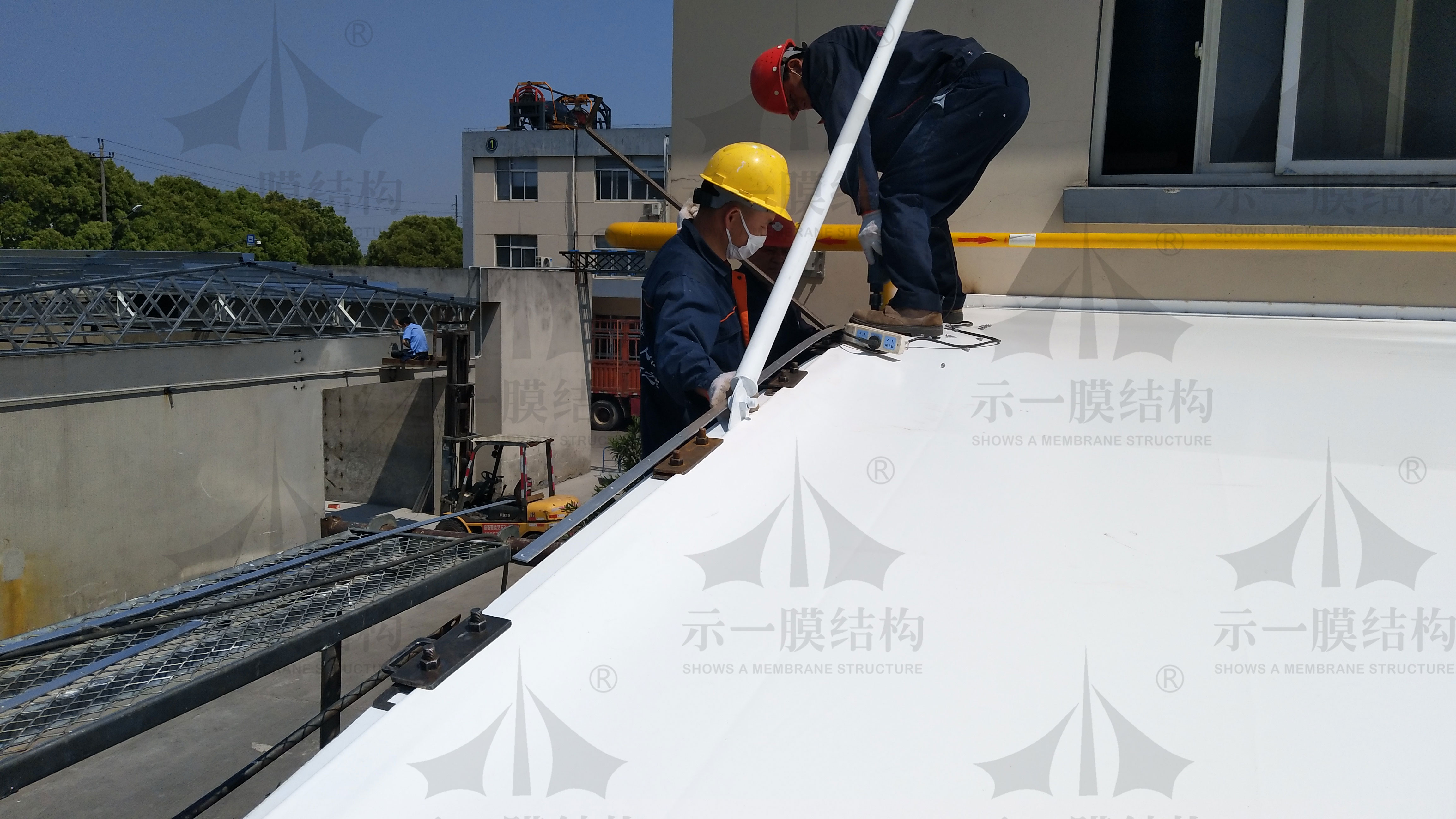 嘉善物流公司雨棚-(4)