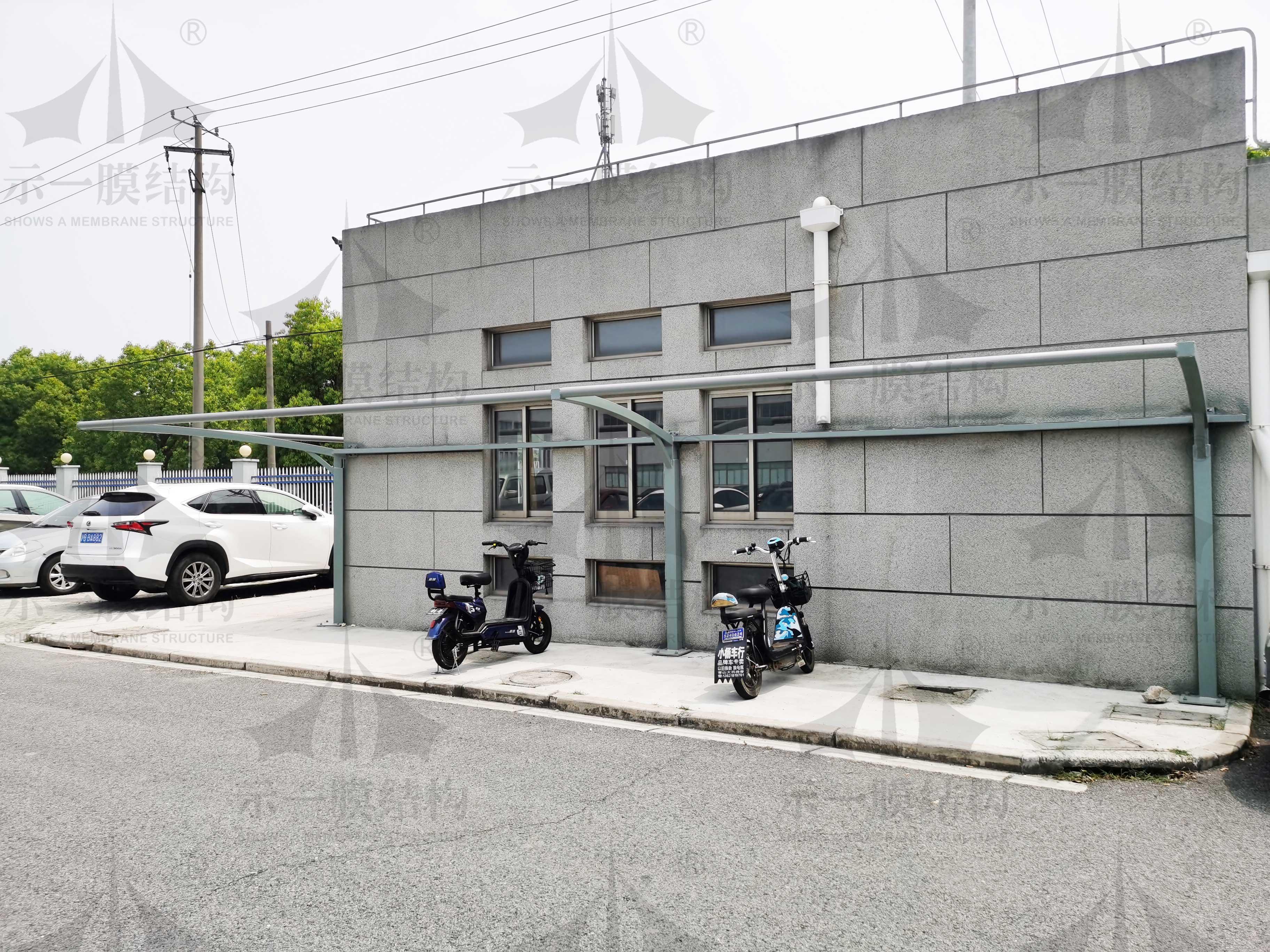 上海示一膜结构上海青浦膜结构停车棚第一部分