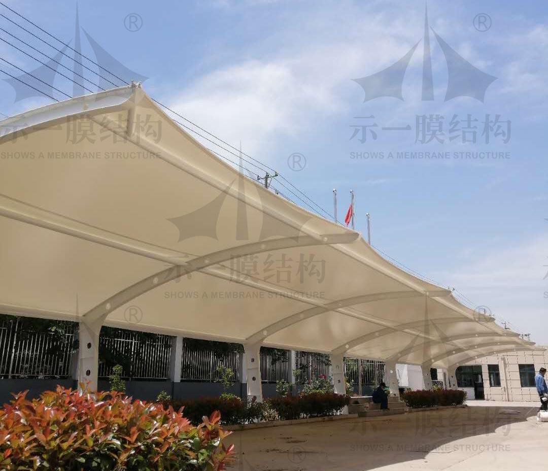 上海示一膜结构康达顺精密汽车附件公司膜结构车棚
