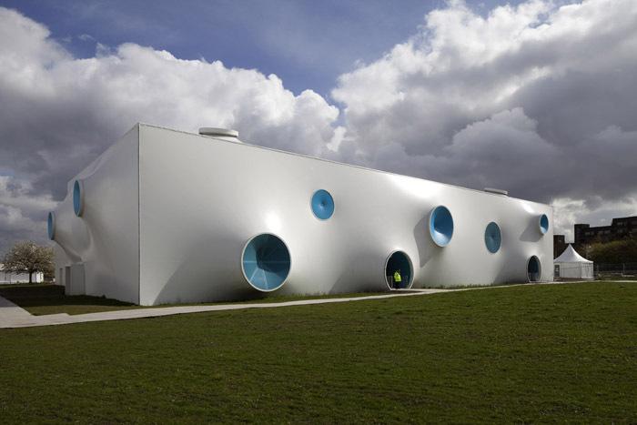 领略伦敦伍尔维奇区奥运会膜结构射击场的美